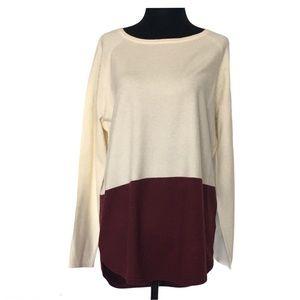 Michael Kors women sweater colour blocked merlot